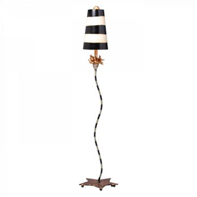 Gold Leaf, Black And Putty Floor Lamp - 1 x 100W E27