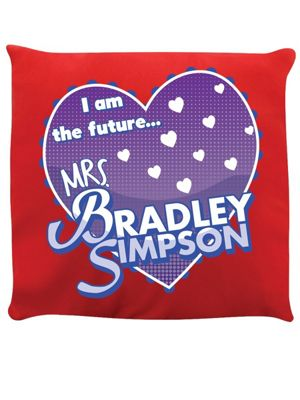 I Am The Future Mrs Bradley Simpson Cushion 40x40cm Red