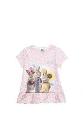 Peter Rabbit Peplum Hem T-Shirt Pink 12-18 months