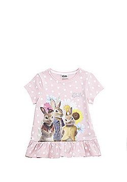 Peter Rabbit Peplum Hem T-Shirt - Pink