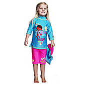 Doc McStuffins UV Shirt Shorts and Sun Hat Set 5 to 6 Years