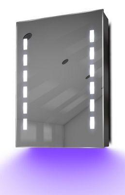 Demist Cabinet With LED Under Lighting, Sensor & Internal Shaver Socket k355u