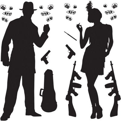 1920s Party Gangster Scene Add-Ons - 24 pack