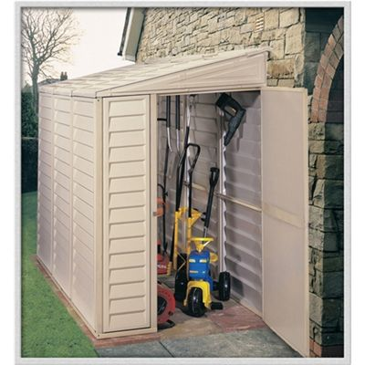 4ft x 8ft Plastic Sidemate Pvc 4x8 Shed With Steel Frame (1.21m x 2.39m) 4 x 8