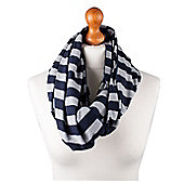 Nursing Scarf - Blue/Grey Stripe