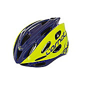 Carnac Pro Road Bike Helmet Yellow/Blue 54-58cm