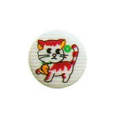 Hemline Cat Patterned Buttons 15mm 4pk