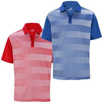 2 Pack Woodworm Golf Fairway Stripe Golf Polo Shirts M