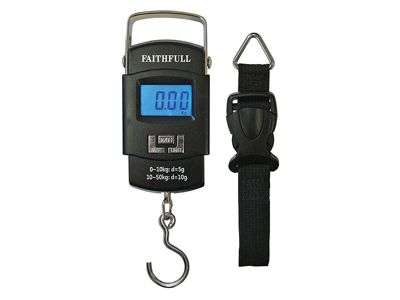 Faithfull Portable Electronic Scale 0 - 50kg