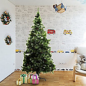 Homcom Christmas Tree Artificial Decoration Xmas with Metal Stand (7ft / 210cm)