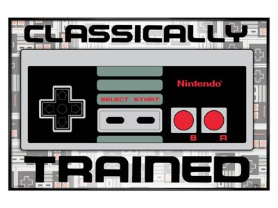 Nintendo Gloss Black Framed Classically Trained Poster 61x91.5cm