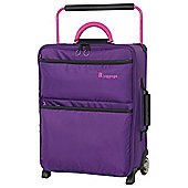 IT Luggage World's Lightest 2 wheel Small Purple Suitcase