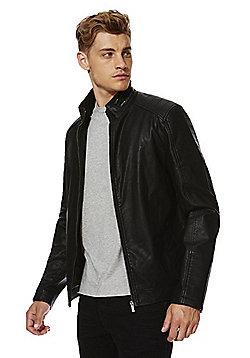 F&F Ribbed Shoulder Harrington Jacket - Black