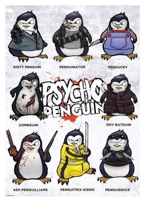 Psycho Penguin Group Mini Poster