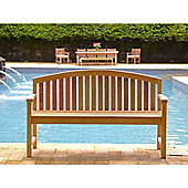 Contemporary Teak Garden Bench - 150cm