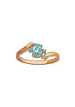 QP Jewellers Diamond & Blue Topaz Embrace Ring in 14K Rose Gold