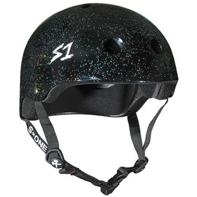 S1 Helmet Company Lifer Helmet - Black Gloss Glitter (Large)