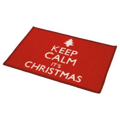 Keep Calm Xmas Washable Mat