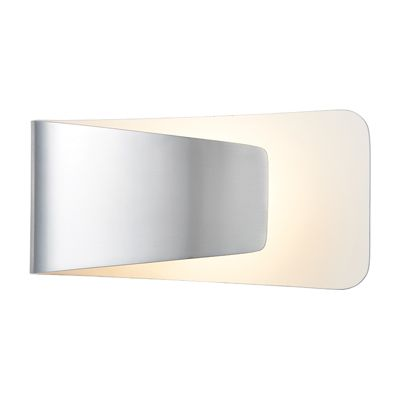 Jenkins 1 Light 7.5W Wall Light Warm White Polished Aluminium