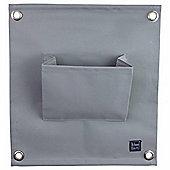 Grey Wall-mountable Fabric Pocket Wall Planter