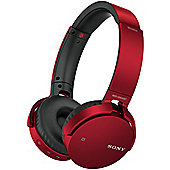 Sony MDRXB650BT Wireless Headphones (Red)