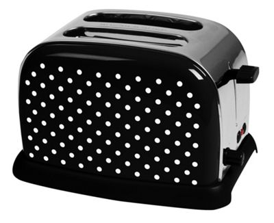 KitchenOriginals by Kalorik Black Polka Dot Two Slice Toaster
