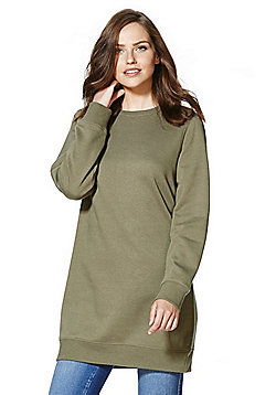 F&F Long Line Sweatshirt - Khaki