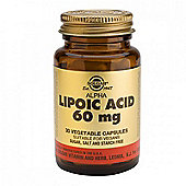 Solgar Alpha Lipoic Acid 60mg Vegicaps 30