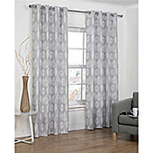 Hamilton McBride Vermont Eyelet Lined Curtains - Grey