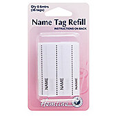 Hemline Name Tags Refill Pack (36 Tags)