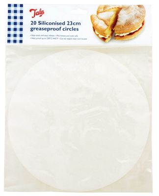 Tala 23cm Diameter Siliconised Greaseproof Circles, Pack of 20