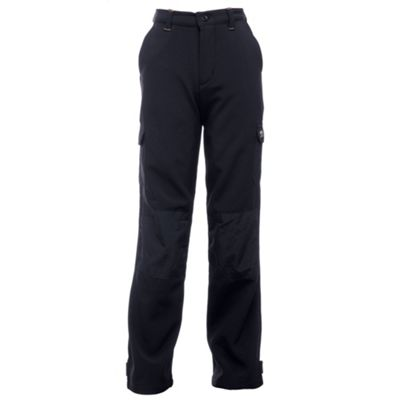 Regatta Boys Winter Softshell Trousers Black 5-6