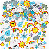 Weather Foam Craft Stickers (Pack of 96)