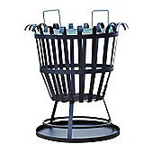 Outsunny Patio Portable Round Fire Pit Basket Brazier Outdoor Heater Camping