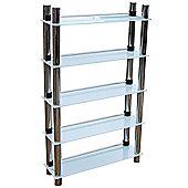 Splash - 5 Tier Bathroom Storage Shelves - White