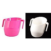 Doidy Cup - Cerise And White - 2 Items