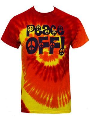 Peace Off! Blaze Tie-Dye Red Men's T-shirt