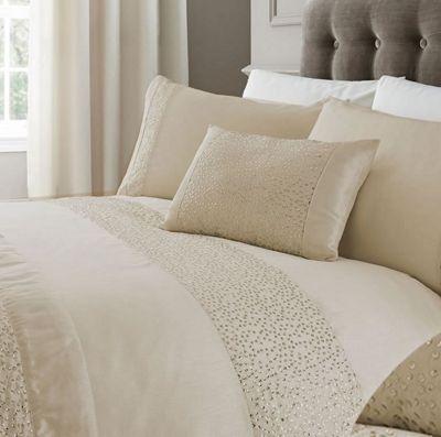 Glitz Single Bedding - Cream