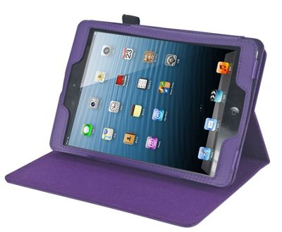 Navitech Purple Stand Case Cover for the Apple iPad Mini 1 2 3 4 with headrest mount