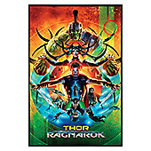 Thor Ragnarok Gloss Black Framed Poster 61 x 91.5cm