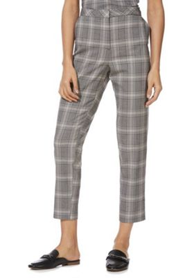 F&F Checked Slim Leg Trousers Grey 10