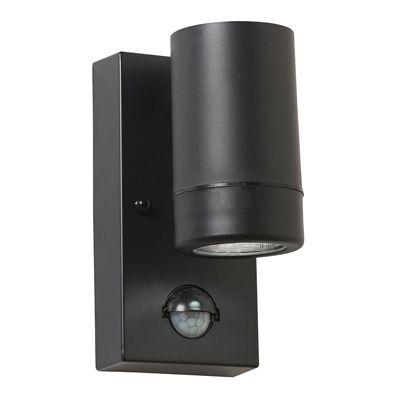 Icarus PIR 1 Light 2.5W Wall Light Cool White Black Polypropylene