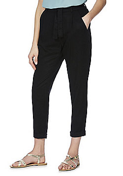 F&F Tencel® Tapered Leg Trousers - Black