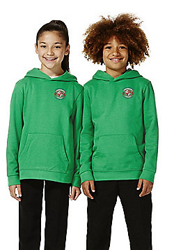 Unisex Embroidered School Hoodie with As New Technology - Emerald green