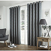 Curtina Harlow Teal Thermal Backed Curtains -90x90 Inches (229x229cm)