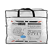 Homescapes Goose Feather and Down All Seasons (9 Tog + 4.5 Tog) King  Size Duvet Luxury Quilt