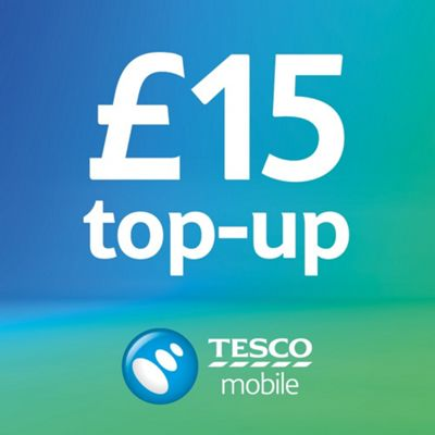 Tesco Mobile £15 Top Up