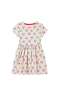 F&F Ditsy Floral Print Jersey Dress - Pink