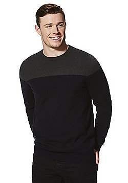 F&F Colour Block Jumper - Navy & Grey