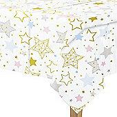 Twinkle Twinkle Little Star Plastic Tablecover - 1.3m x 2.1m